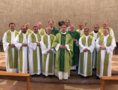 Bispos do Regional Centro-Oeste da CNBB visitam o Colégio Pio Brasileiro